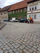 Pflasterstrassen sind in Ostdeutschland ziemlich verbreitet.
