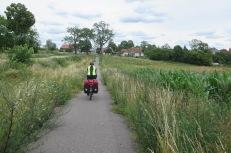 Green-Velo-Radweg: separater Radstreifen