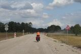 Unser Start in Lettland: 10km Baustelle.