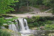 Der drittgrösste Wasserfall in Estland.
