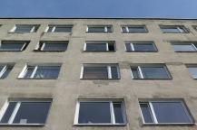 In diesem Haus wohnten wir in Tallinn.