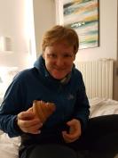 Das erste französische Croissant.