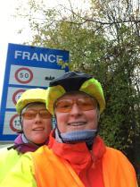 Bei 7°C in Frankreich eingefahren.