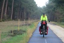 Leere Radwege - im Sommer ist es hier voll.