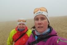 Auf der Dune du Pilat bei Nebel und 2 Grad
