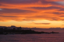 Sonnenuntergang in Biarritz