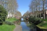 Die ersten Meter des Canal du Midi in Toulouse.