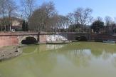 Ponts jumeaux, die Zwillingsbrücken in Toulouse: hier kommen der Canal du Midi, der Canal Latéral de la Garonne und der Canal de Brienne zusammen.